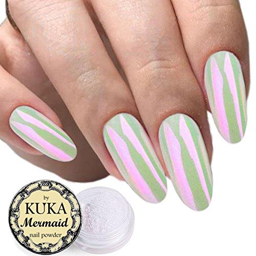 Polvere per nail art, accessori per le unghie, effetto perlato, conchiglia, camaleonte, sirena, specchio, cromato, lucido, glitter, iridescente, ceramica, neon, 5colori
