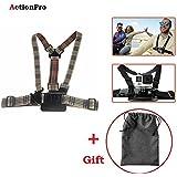 Action Pro 1 X Adjustable Body Harness Chest Belt Strap Mount 1 X Storage Bag Accessory For GoPro SJcam Yi