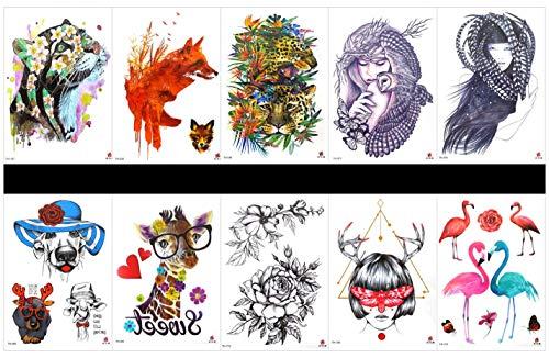 PAMO Halloween Gefälschte und echte Tempo-Sticker, die echt aussehen 3er Halloween-Tattoo-Sticker und 4er-Gesicht Sticker in einem Paket, darunter Spinnennetz, Schädelkopf, Kürbis usw. (Die Kürbis Gesichter Einen Halloween Für In)