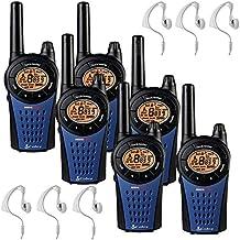 12 Km Cobra MT975 Walkie Talkie 2 Tomas PMR Radio Pack De 6 + 6 x Comtech CM-15PT Auriculares
