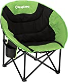 KingCamp Moon Saucer Camping Folding Round Chair Padded Seat Heavy Duty Steel Frame