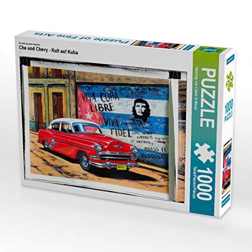 CALVENDO Puzzle Che und Chevy - Kult auf Kuba 1000 Teile Lege-Größe 64 x 48 cm Foto-Puzzle Bild von Henning von Löwis of Menar