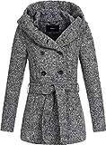 ONLY Damen Kurzer Wollmantel Lisa XL-Kapuze 15156576 medium Grey Melange L