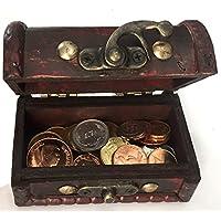 IMPACTO COLECCIONABLES Monedas de COLECCIÓN - 25 Monedas sin Circular DE 25 países + Cofre de Regalo