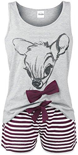 Bambi Lovely Stripes Pigiama grigio/bianco/bordeaux S