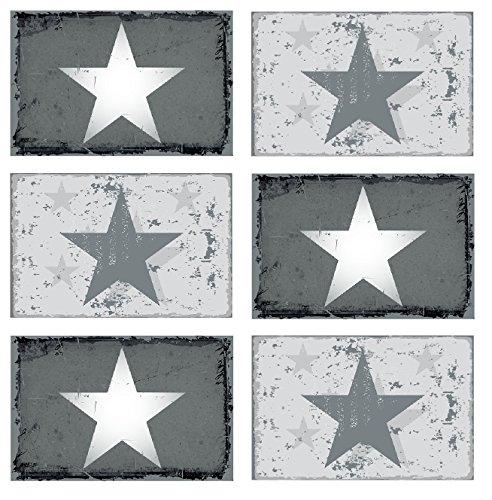 6er Set manteles individuales forma estrella nueva