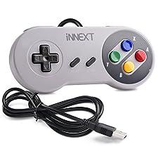 iNNEXT® Manette de jeu SNES Gamepad pour PC USB Super Famicom US Console Windows / Mac