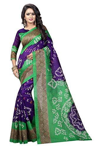 Kanchan Women Wedding Cotton Silk Bhagalpuri Trend Saree For Ladies & Girls...