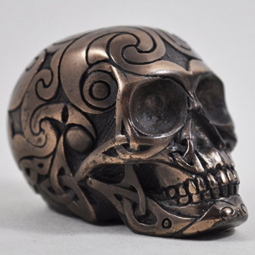 Celtic Skull in Bronze - H6cm (small) by Design Clinic