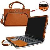 HP Notebook 17 Housse,(2 en 1) spécialement conçu Étui de protection en cuir PU + sac portable Sacoche pour 17.3' HP Notebook 17 17-x000 17-bs000 17-y000 Series Portable Notebook(NON compatible avec ENVY 17 & Pavilion 17),Marron