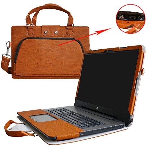 HP Notebook 17 Hülle,2 in 1 Spezielles Design eine PU Leder Schutzhülle + portable Laptoptasche für 17.3