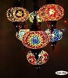 Mosaik Hängelampe Mosaiklampe Deckenlampe Türkische Orientalische Hängelampe 7 Großen Kugeln