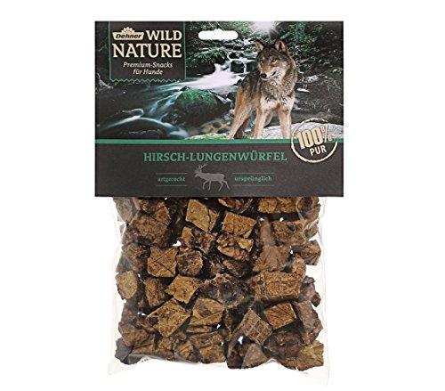 Dehner Wild Nature Hundesnack, Hirsch-Lungenwürfel, naturbelassen, 200 g