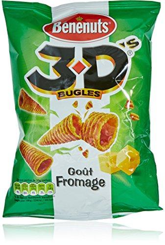 Benenuts Bugles 3D Goût Fromage 35 g - Lot de 6