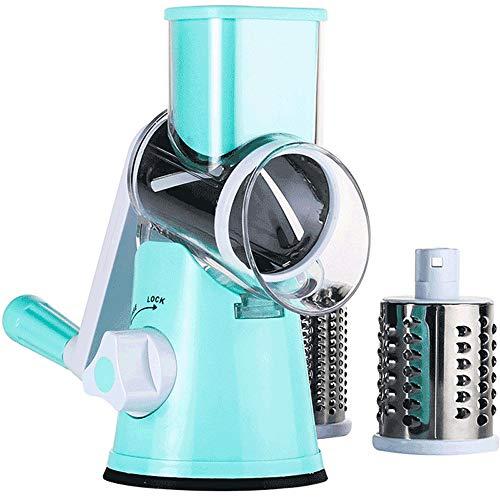 Ccdz multifunzione rotazione manuale chopper di verdure/affettatrice/macchina da taglio/grinder/pialla per formaggio attrezzo da cucina per le verdure,frutta, formaggio, biscotti, noci