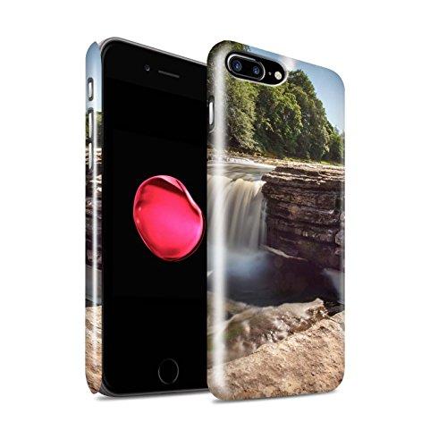 STUFF4 Glanz Snap-On Hülle / Case für Apple iPhone 8 Plus / Felsigen Stream Muster / Wasserfälle Kollektion Fluss