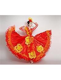 peiwen Flor Grande de la Mujer Falda Grande Funcionamiento de la Danza de  la Etapa f923e86c315d