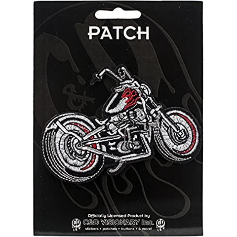 C&D Visionary Patch-Black Chopper Motorcycle (Ricamo Cd)