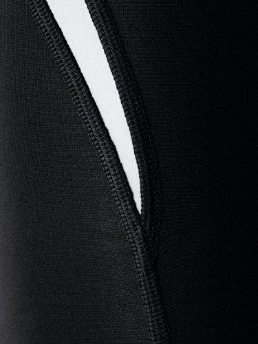 erima Erwachsene Shorts Tight Schwarz/Weiß