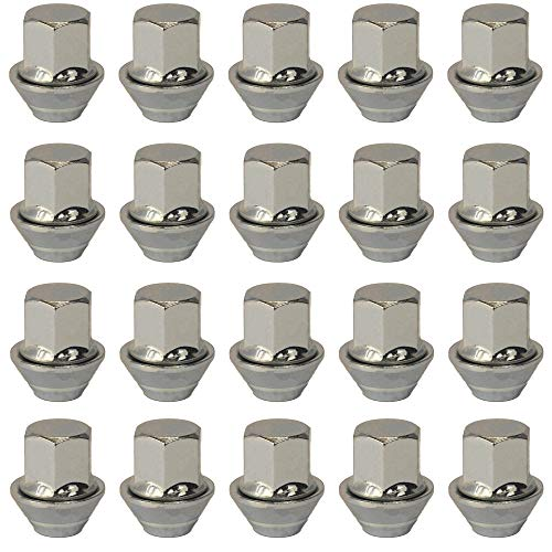Lot de 20 écrous de roue en alliage, Filetage M12 x 1,5, Rondelle tronquée, Forme hexagonale de 19 mm, Pour une utilisation avec des jantes en alliage Ford