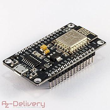 AZDelivery NodeMCU Lua Lolin V3 Module ESP8266 ESP-12E WIFI Wifi Development Board mit CH340 und gratis eBook!