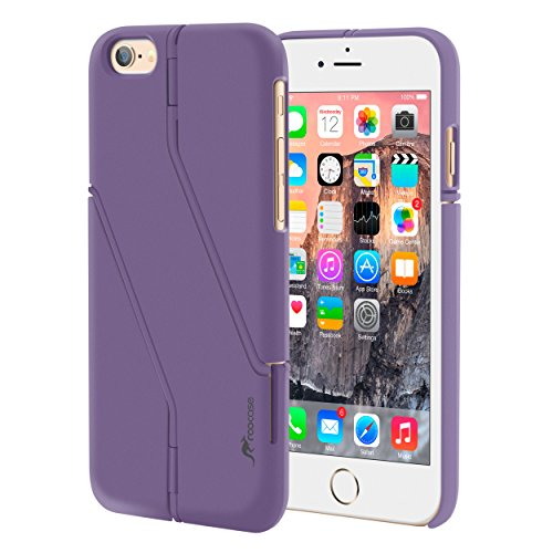 iPhone 6s Case, roocase iPhone 6 Slim Fit Kickstand [Switchback Series] Case PC Hard Shell Cover for Apple iPhone 6 / 6s (2015), Purple Lilac