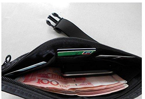 Tokkids Riñonera delgado & ligero para viajes y los deportes con pasaporte,tarjeta de crédito,móvil o otros objetos de valor