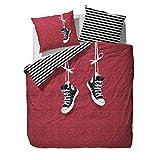 Bettwäsche Covers & Co. 100% Baumwolle Renforcé 135x200+80x80cm Zack red