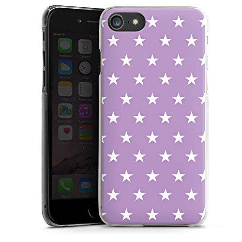 Apple iPhone X Silikon Hülle Case Schutzhülle Sterne Polka Flieder Hard Case transparent