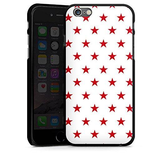 Apple iPhone 5s Housse Étui Protection Coque Étoile Rouge blanc Motif CasDur noir