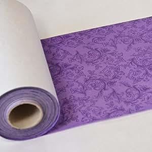 ornament tischband tischl ufer stoff hnlich 20 cm breit 40 m lang lila k che. Black Bedroom Furniture Sets. Home Design Ideas
