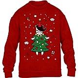 Ugly Christmas Weihnachts Tannenbaum Einhorn Kinder Pullover Sweatshirt 152-164cm Rot