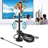 LayOPO High Definition TV-Antenne, Dual Band Antenne (VHF/UHF) mit Lang 50Miles Reichweite, Kompatibel mit 1080p für Innen
