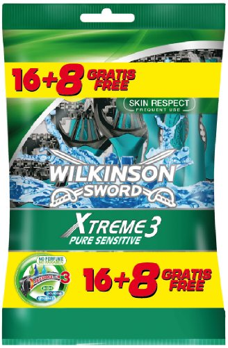 Wilkinson - Rasoi usa e getta Xtreme 3 Pure Sensitive, 24 pezzi