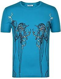 Versace Collection Hommes T-Shirt Tee Top Haut Manche Courte Casual Sport
