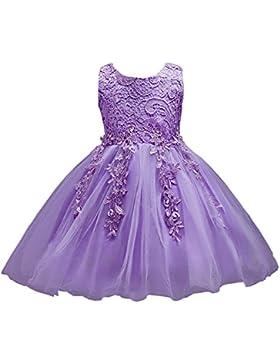 LSERVER-Vestido de encaje para los niñas vestido princesa