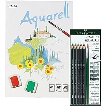 Faber Castell 117897 Set Bleistift Graphit Aquarelle Pinsel