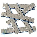 100 Auswuchtgewichte 12x5g Klebegewichte 6KG Stahlgewichte Kleberiegel 60g mit ABRISSKANTE verzinkt & kunststoffbeschichtet