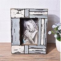 weiwei Marco de fotos madera sólida creativo, Retro lo viejo Portaretrato decorativo-B