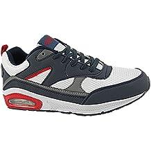 Para hombre Air Tech legado absorción de golpes Piel sintética deportes gimnasio Fitness zapatillas zapatos tamaño 7–12