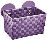 Wenko 20379100 Static-Loc Aufbewahrungskorb Fermo Purple - Badkorb, Befestigen ohne bohren, Kunststoff - Polypropylen, 20.5 x 14.5 x 14 cm, Lila