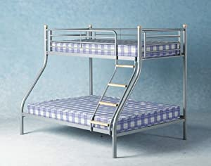 Bunk Bed Double and Single Metal Bunk Bed Three Sleeper Bunk Bed