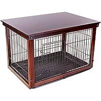 Casetas y Cajas para Perros Jaula para Perros Valla Interior para Mascotas Madera Maciza Hierro Perros