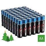 ANSMANN Lichterkette Batterie AA Mignon (48 Stück) Batterien für Weihnachtsbeleuchtung und LED Kerzen - Alkaline Einwegbatterie