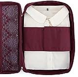 Ducomi® Cloonie Organizer da Viaggio per Camicie e Cravatte (Burgundy)