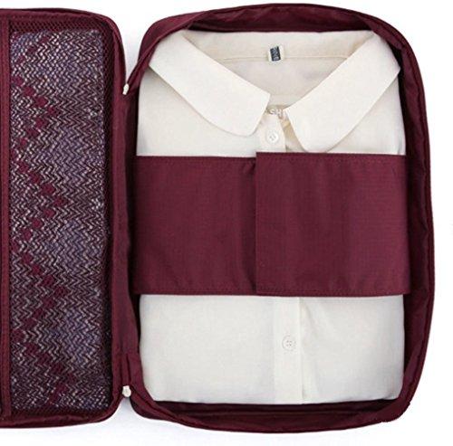 Ducomi 644766105748 Cloonie Organizer da Viaggio per Camicie e Cravatte, Burgundy