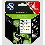 HP Original Tinte kompatibel OfficeJet 6500, 920XL C2N92AE, 4x Premium Drucker-Patrone, Schwarz, Cyan, Magenta, Gelb, 1x 1200, 3x 700 Seiten, 1 x 32 & 3 x 8 ml