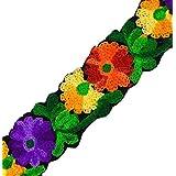 Bordado floral de la tela del ajuste Craft 4,06 cm de ancho Material del cordón de costura por el astillero