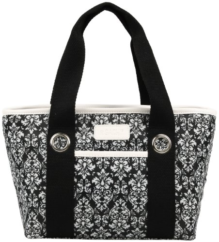 sachi-11-161-insulated-fashion-lunch-tote-black-and-white-damask