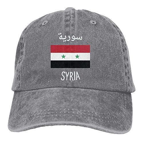 Schwarz Washington Jeans (Miedhki Men Women Adjustable Denim Jeans Baseball Caps Syria Flag Hiphop Cap Fashion28)